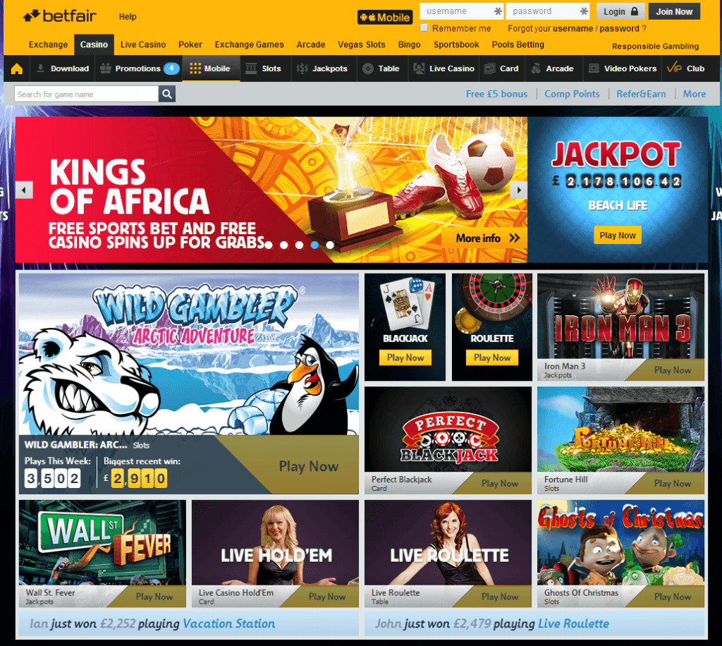 TOP RATED UNITED KINGDOM CASINO SITES